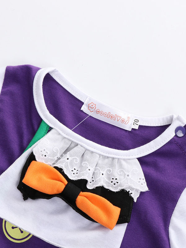 Halloween 2-Pieces Baby Bodysuit+ Flutter Cloak Party Costume Outfit
