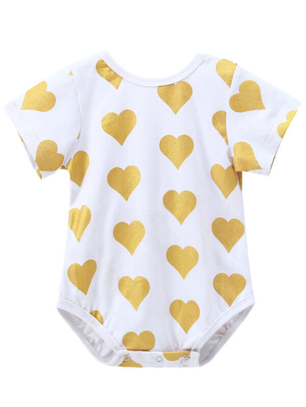 Golden Bow Junpsuit for Babies