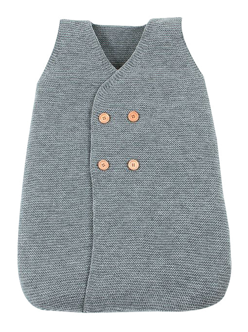 Knitted Sleepsuit - Gray