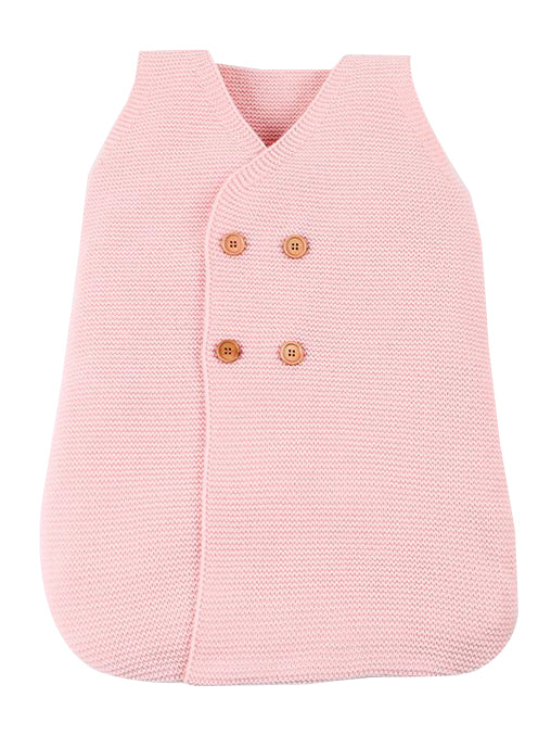 Knitted Sleepsuit - Pink