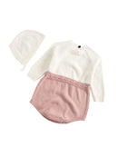 Color Block Knitted Baby Onesie