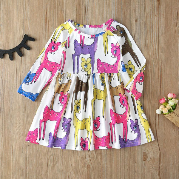 Animals Printed Dress-Front