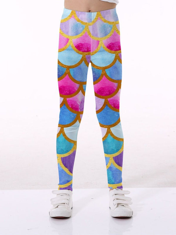 Graphic Leggings-Front