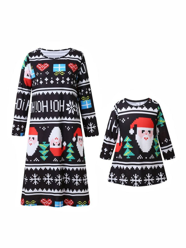 Mommy & Me Xmas Dress-front