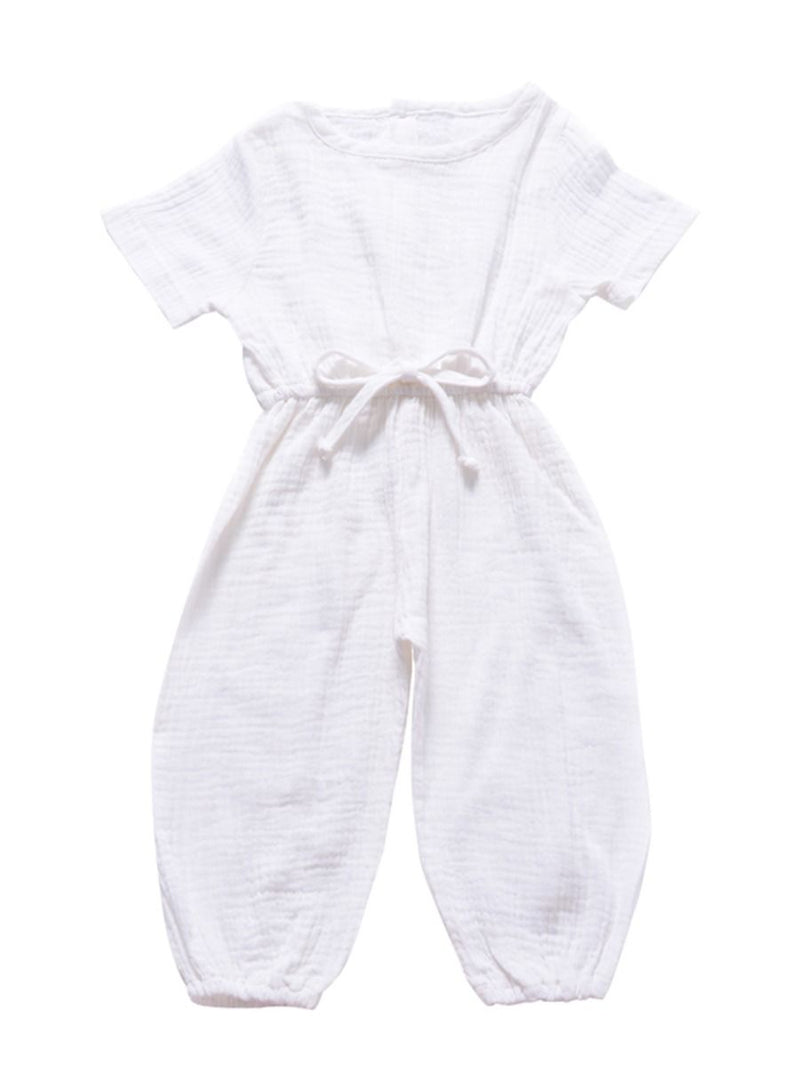 Muslin Jumpsuit-white