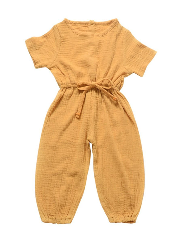 Muslin Jumpsuit-yellow