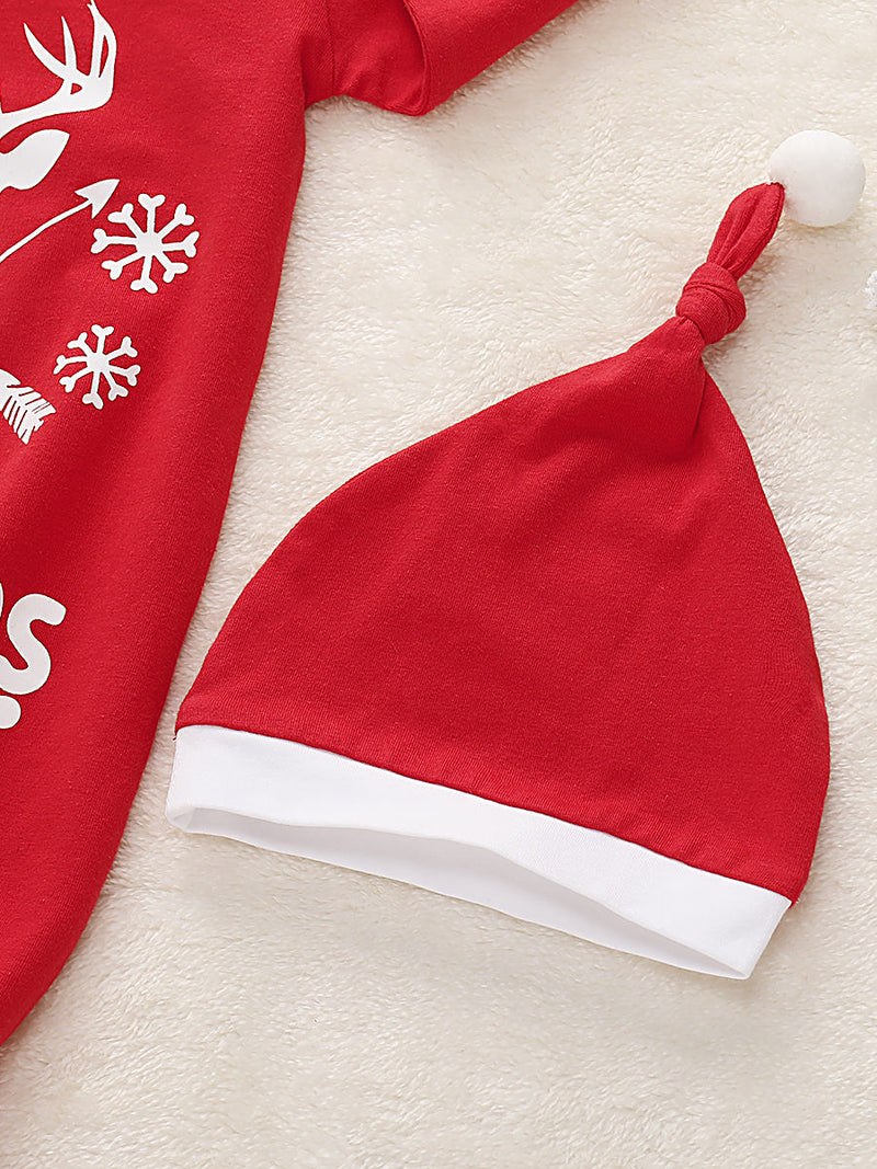 My 1st Christmas 2-Piece Letters Red 70CM Baby Sleeping Bag & Hat