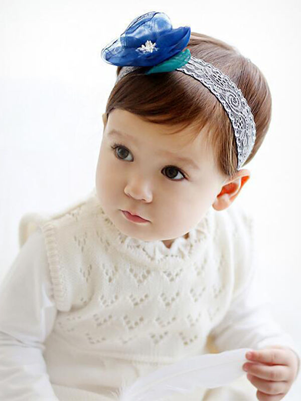 Flower Hairband - Blue