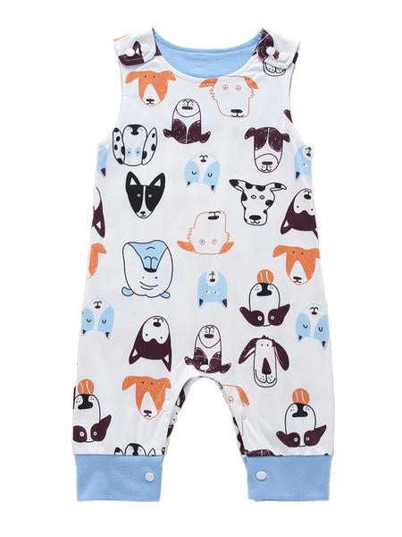 Printed Baby Sleeveless Jumpsuit