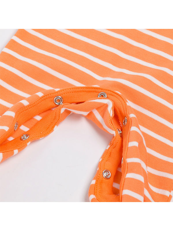 Pumpkin Smile Face Striped  +Headband Halloween 2-piece Set