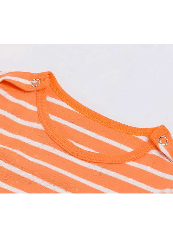Orange & White Striped