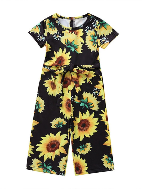 Flower Printed Summer Jumpsuit