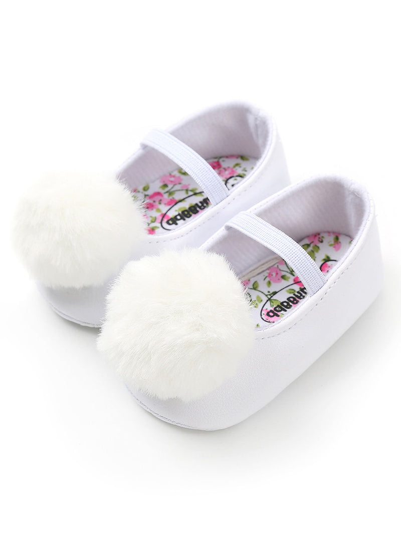 Pom Trimmed Baby Shoes