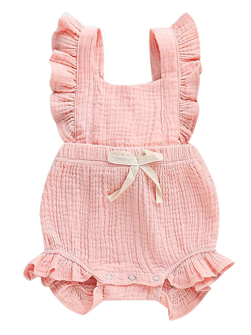 Summer Bow Bodysuit-pink