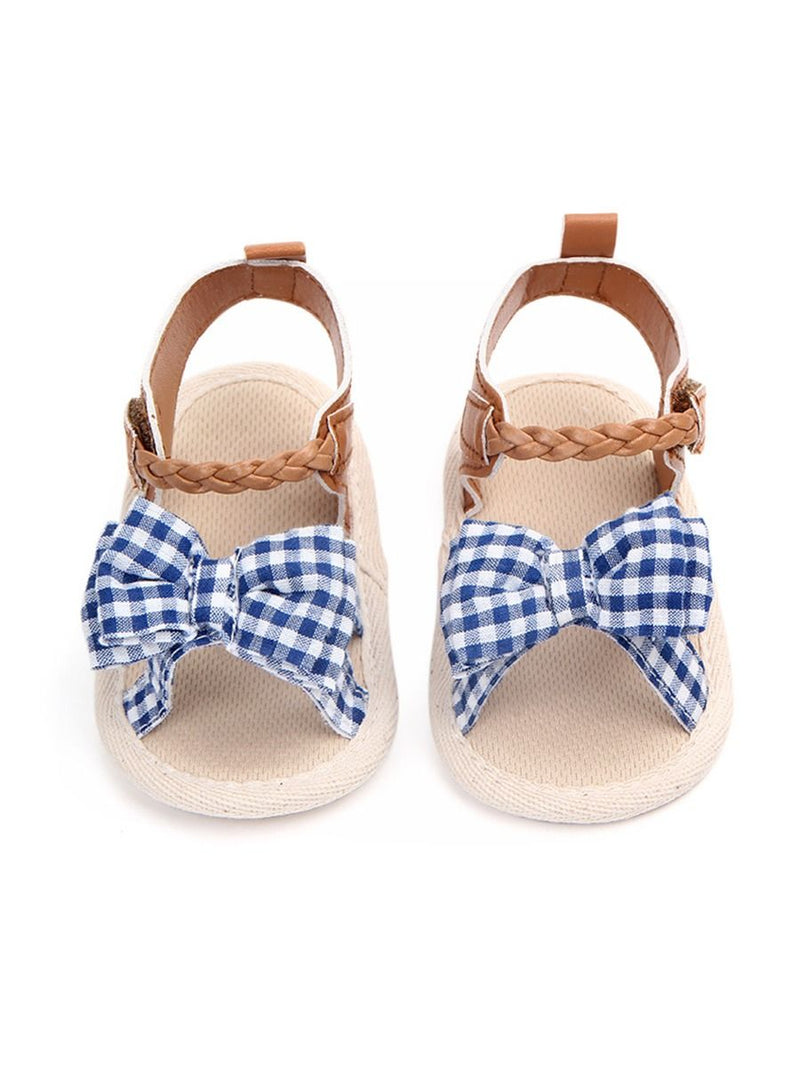 Plaid Bow Sandals-pattern 3