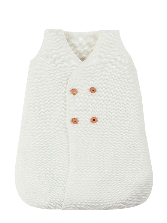 Knitted Sleepsuit - white