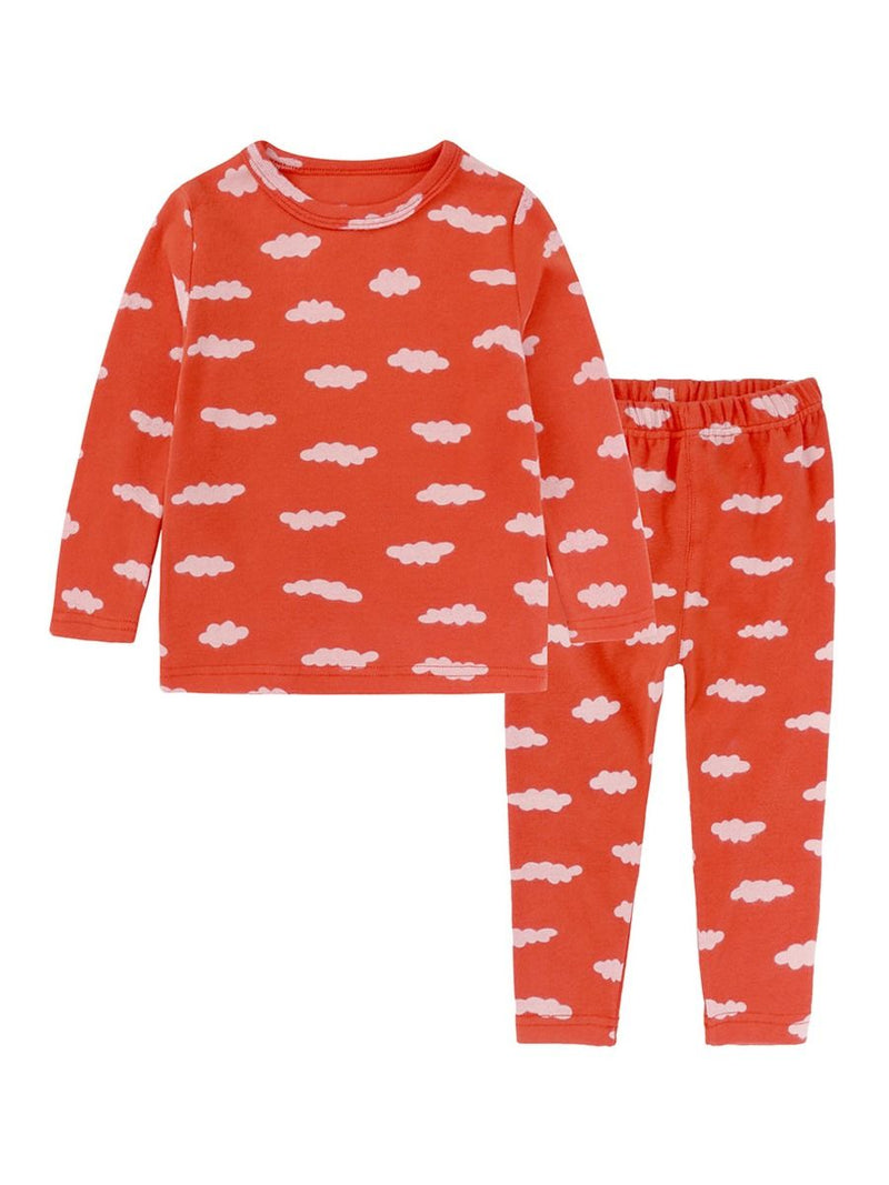 Spring 2-Piece Toddler Kids Unisex Cartoon Pajamas Set-6 Colors