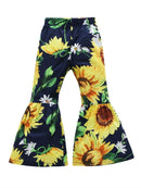 Flower Print Trousers-deepblue