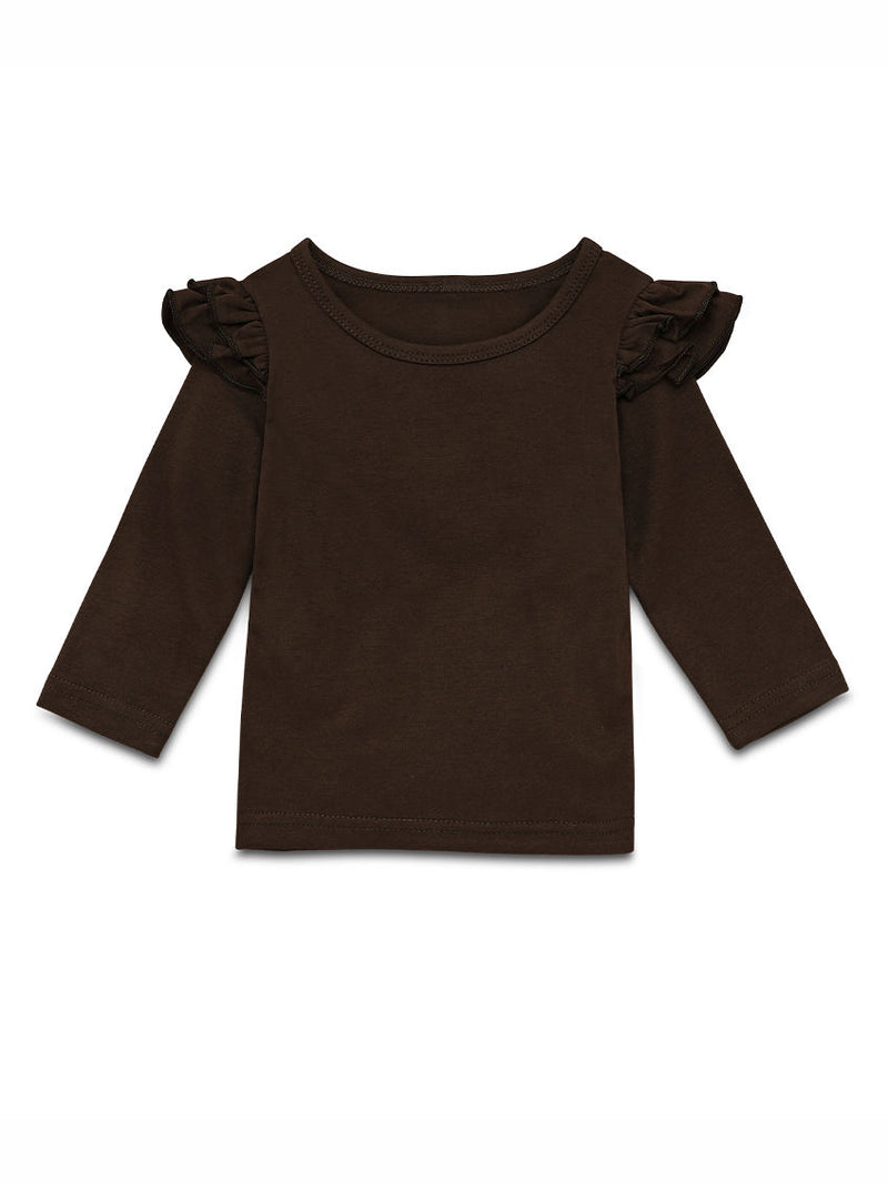 Coffee Frilled Top
