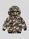 Fall Toddler Baby Boys Padded Camo Hooded Jacket