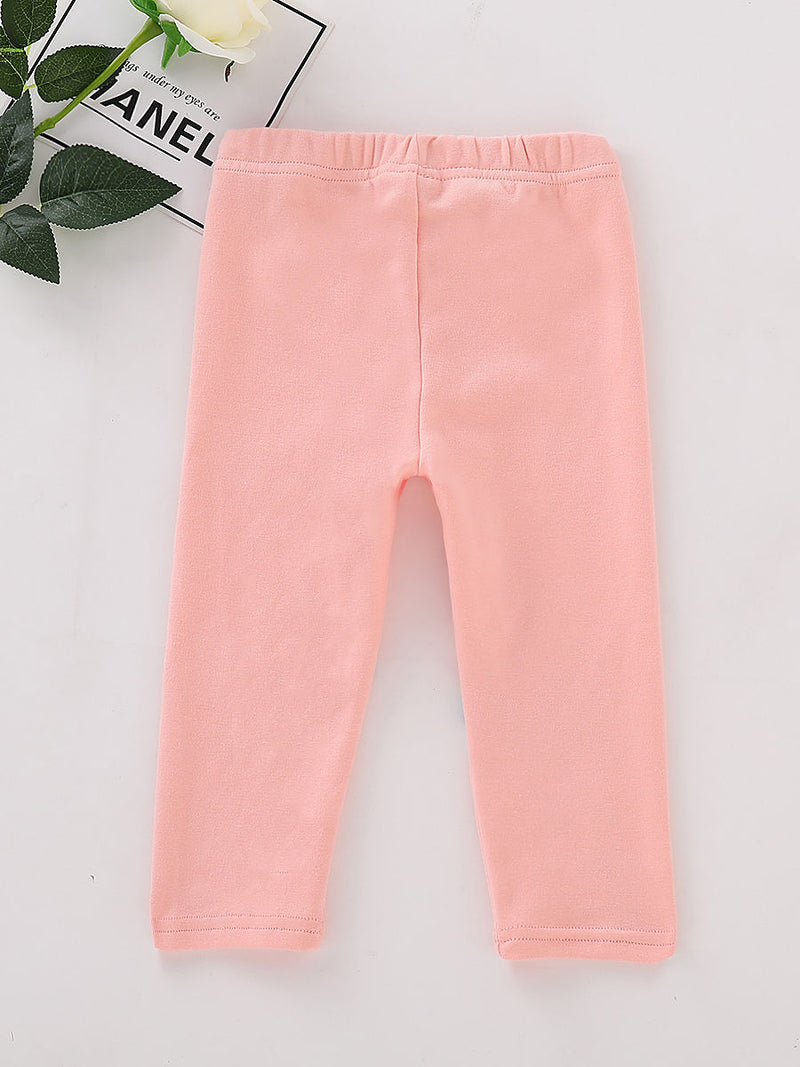 Adorable Toddler Girls Bunny Pink Render Trousers
