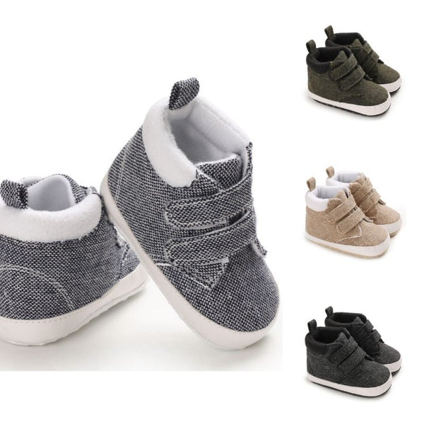 4 Colors Winter Stylish Baby Boy Solid Color Ankle Shoes
