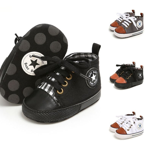 4 Colors Fall Baby Boy First Start Canvas Shoes