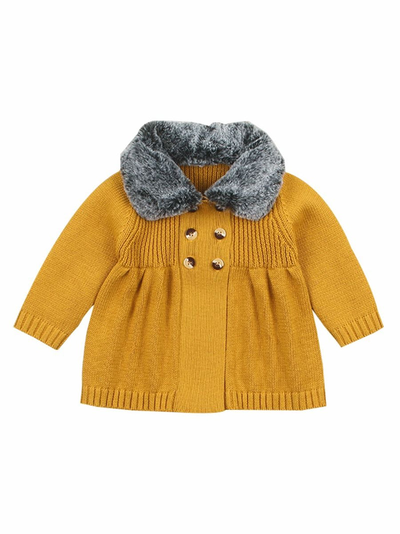 Buttons Decor Knitted Jacket-ginger