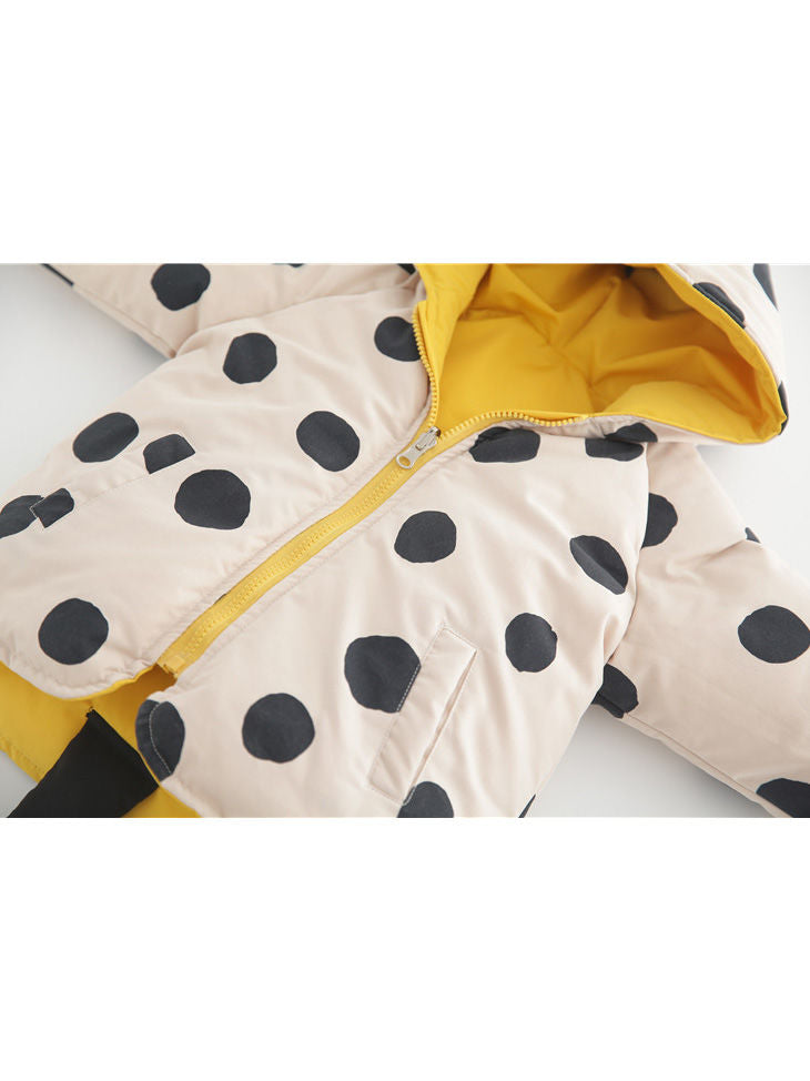 Winter Cute Baby Toddler Kids Yellow Reversible Coat