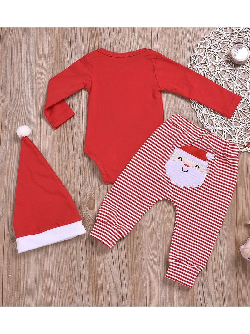 Santa Romper & Pants & Hat-back