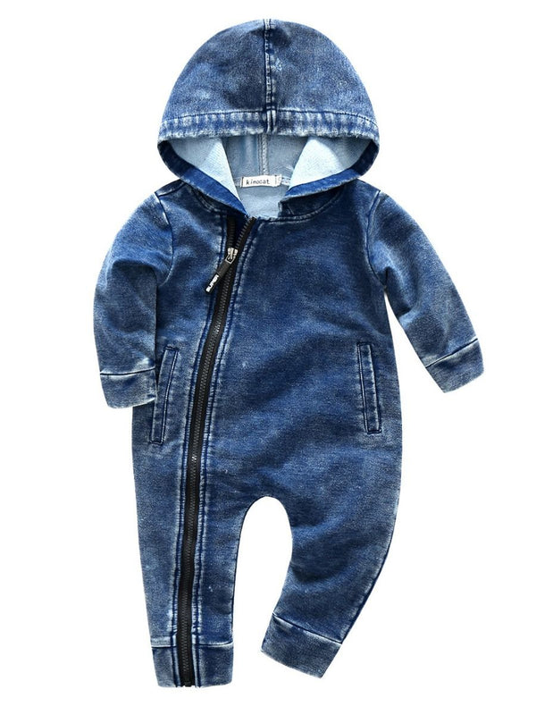 Solid Color Hooded Overall-Pattern 1