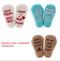 3-PACK Cute Baby Unisex Letters Print Cotton Socks