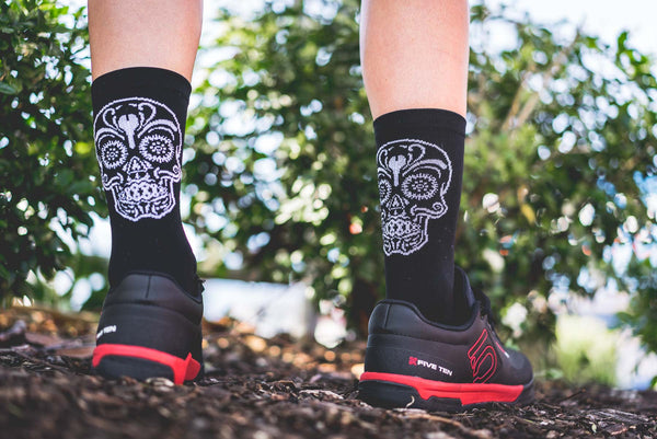Cycling Socks Women with skull