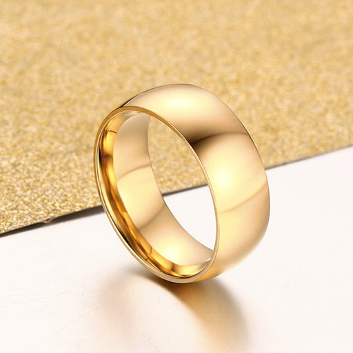 Classic Gold Ring Stainless Steel