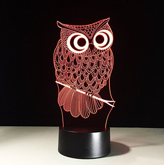 Owl Hologram Light