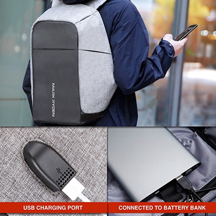 Multifunction USB Charging Anti Theft Waterproof Backpack
