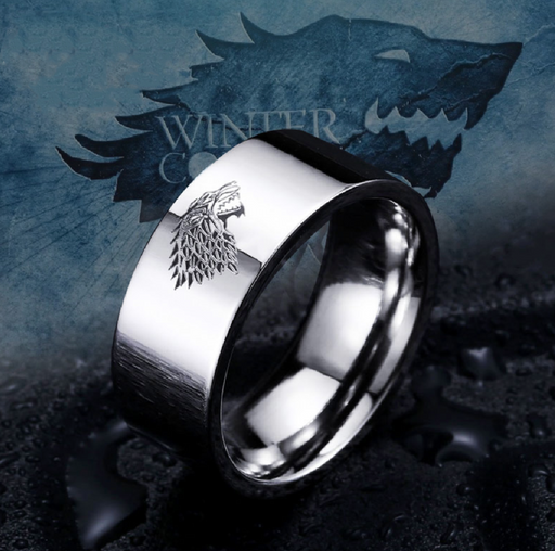 Game of Thrones Stainless Steel Ring House Stark of Winterfell