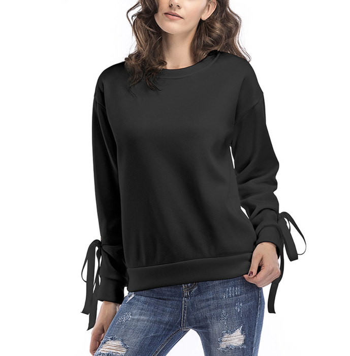 Lace Up Long Sleeve Pullover