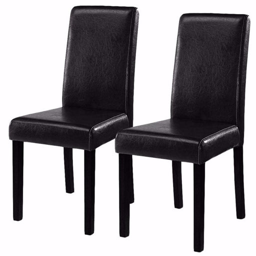 Modern Leather Dining Chairs (Set of 2)