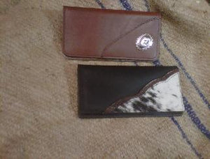Bighorn Leather and Accessories - T.M. - Leather Goods - Check Book Wallets with design or concho