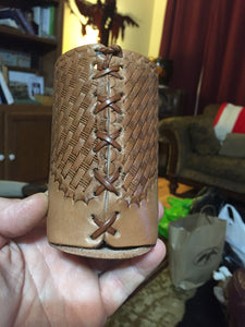 Bighorn Leather and Accessories - T.M. - Leather Goods - Deep Embossed Leather Koozies