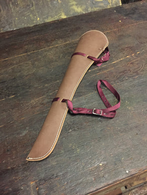 Bighorn Leather and Accessories - T.M. - Leather Goods - Bonded Leather Rifle Scabbard