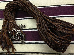 Southern Saddlery & Supply - T.M. - Braided Leather Reins - Split Style