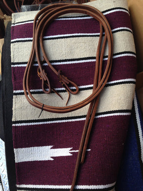 Southern Saddlery & Supplies - T.M. - Cowboy Tack Line - Golden Harness Leather Split Reins with Water Loop Ends