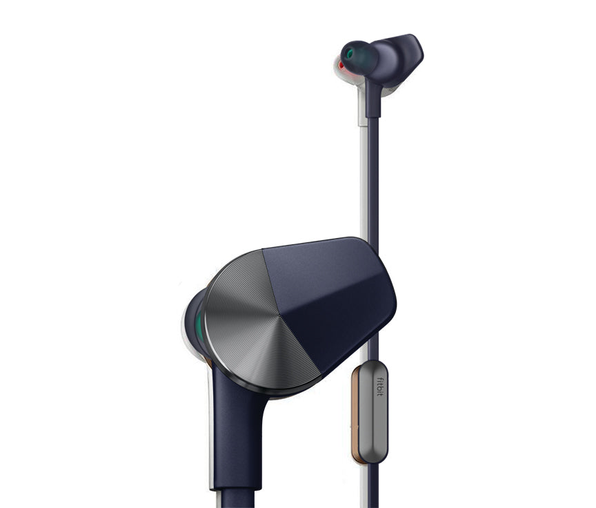 Fitbit - Flyer Wireless In-Ear Headphones - Nightfall Blue - LightStormElectronics