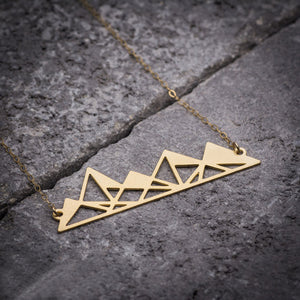 Gold Plated Mountain Necklace