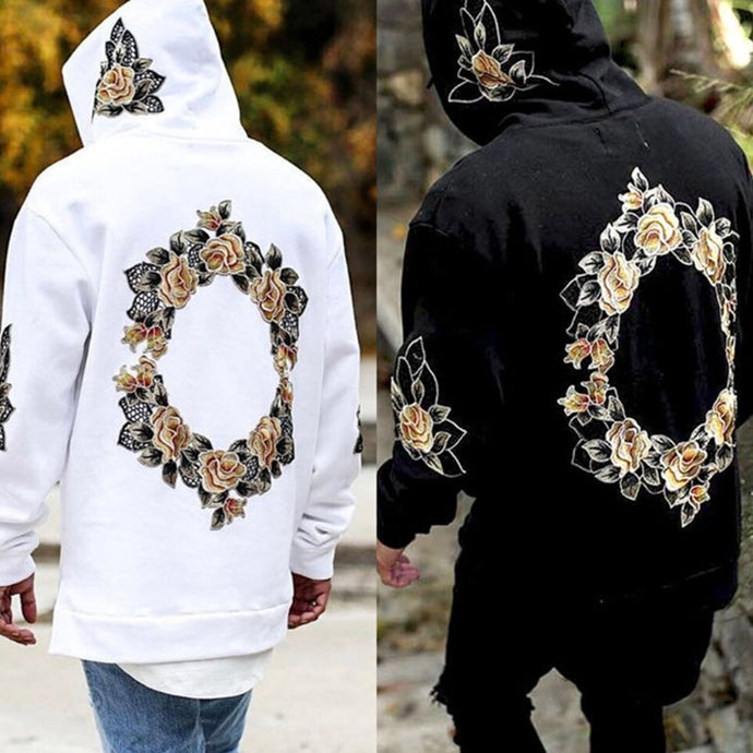 Floral Embroidery Hoodie