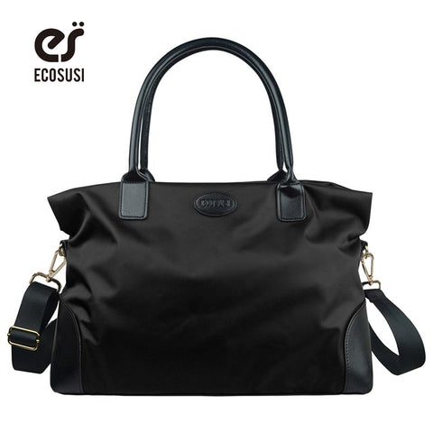 ECOSUSI New Fashion High Quality Unisex Vintage Nylon Korean Style Waterproof Shoulder Bag