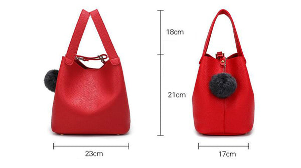 SPECIAL OFFER: Handbag, Casual Style Litchee Pattern Tote Bag, High Quality Magnetic Snap Buckets