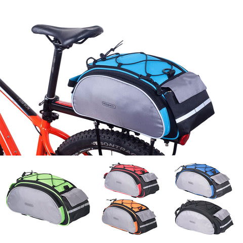 LIMITED STOCK: ROSWHEEL Bicycle 13L Carrier Bag, Bike Back Seat Bag, Bike Shelf Pouch, Shoulder Bag